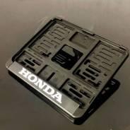 Рамка для номера Honda 190х145. Черный