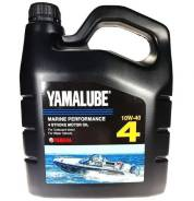 Моторное масло Yamalube 4 SAE 10W-40 API SJ/CF Marine Synthetic Oil 4л