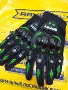 Перчатки мотоциклетные с надписью Kawasaki