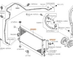 Радиатор кондиционера Nissan Wingroad Tiida Note March Cube BZ11