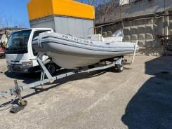 Риб Caribe 15.5 с мотором Honda 60 EFI + телега
