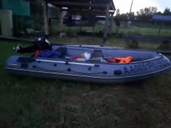 ПВХ Лодка абакан 430 с мотором 20 л. с.