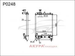 Радиатор охлаждения двигателя основной Nissan OTTI 2003- P0248