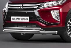 Защита переднего бампера Mitsubishi Eclipse Cross с 2017г d57+d42