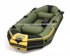 Надувная лодка Marine pro 291х127х46см с вёслами и насосом 65096 BW