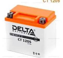 АКБ для мото Delta AGM 5 Ач, CCA 80A, 114*69*109