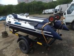 Лодка с телегой