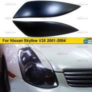 Реснички на фары для Nissan Skyline V35 06.2001-10.2004 седан