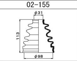 Пыльник ШРУСа внутренний RH Hiace / Regiusace KDH2 / TRH2 1Kdftv
