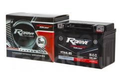 Мото аккумулятор RDrive Silver YTX4L-BS (YT4L, 12N4-3B) 3.1Ач AGM