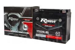 Мото аккумулятор RDrive Silver YTX20L-BS (YTX20HL YB16CL-B) 18.9Ач AGM