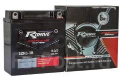Мото аккумулятор RDrive Silver 12N5-3B (YB5L-B) 5.3Ач AGM