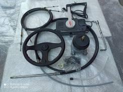 Комплект дистанционное плюс рулевое управление мотора c лодкой