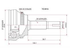 ШРУС подвески наружный Toyota Camry ACV4# 01-09, Harrier #U3#, SAT