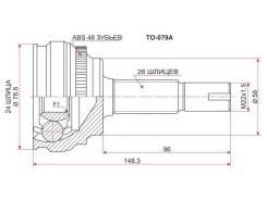 ШРУС подвески наружный Toyota Corolla Runx, Fielder 00-05, SAT