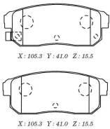 Колодки тормозные дисковые D1239M