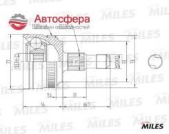 Шрус наружний ком/кт MB A-Class (W168) 97-04 (ABS+) 835022 (GKN 303880) GA20559 Miles GA20559