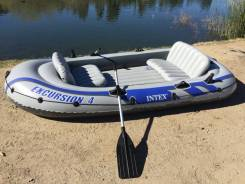 Надувная лодка intex Excursion-4-Set