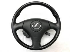 Оригинальный анатомический руль с косточкой чёрный рояльный лак Lexus