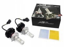 Лампы светодиодные X3 H4 Диод. Комплект
