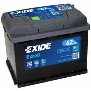 Батарея аккумуляторная Excell 12V 62Ah 540A 242x175x190 EB620 Exide
