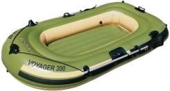 Надувная лодка Voyager 300 арт. 65051 Bestway 243х102х31 см с вёслами