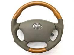 """Анатомический руль """"Real"""" с косточкой под дерево для Toyota"""