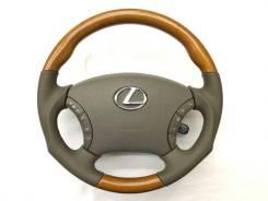 """Анатомический руль """"Real"""" с косточкой под дерево для Lexus"""