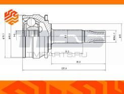 ШРУС внешний JD JCT0245