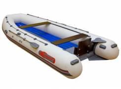 """Лодка ПВХ Leader """"Калуга - 480"""" Jet Tunnel (цвет серый)"""