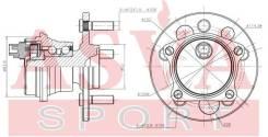 Ступица колеса | зад прав/лев | Tywhips10R