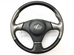 Оригинальный спортивный обод руля черная/серая кожа Lexus