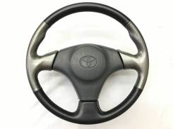Оригинальный спортивный обод руля черная/серая кожа Toyota