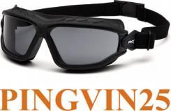 Очки-маска Torser (Anti-Fog) серые 23% светопропускаемость в Pingvin25