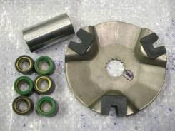 Задняя часть вариатора, грузы, втулка, направляющие-скутеры