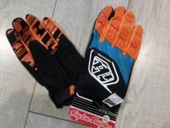 Перчатки эндуро, мотокросс. Черно-сине-оранжевые