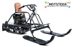 Мотобуксировщик Бурлак-М Практик 6.5 (+лыжный модуль), 2019