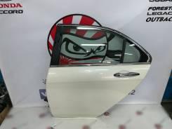 Дверь задняя левая (белый перл NH624P) Honda Accord CL9 #7