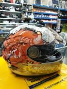 Шлем мотоциклетный со встроенными очками