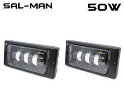 Противотуманные фары LED для Lada 2110/12/14/15 двухцветные