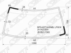Стекло лобовое Toyota 4-Runner/Hilux SURF 88-95/Great WALL Sailor SAFE 02-10 [SPG-8271Agnbl LFW/X], переднее