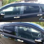 Накладки черный хром на стойки дверей на любое авто