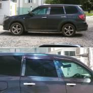 Металлические накладки на стойки дверей (черный хром) на любое авто