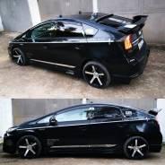 Вставки на стойки дверей (черный хром) на любое авто