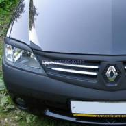 Реснички накладки на фары Renault Logan (Рено Логан) 2004-2015г