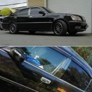Накладки на стойки дверей (черный хром) на любое авто