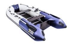 Надувная лодка ПВХ, Ривьера Компакт 3200 СК Комби, светло-серый/синий
