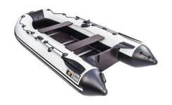 Надувная лодка ПВХ, Ривьера Компакт 3200 СК Касатка, серый-черный