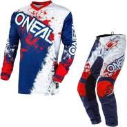 Костюм Oneal Element Impact 2020 Motocross SUIT White / BLUE XL/36