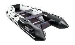 Надувная лодка ПВХ, Ривьера Максима 3400 СК Комби, светло-серый/черный